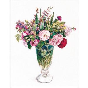 Набор для вышивания Fujico (Фуджико) Розы и травы. 615
