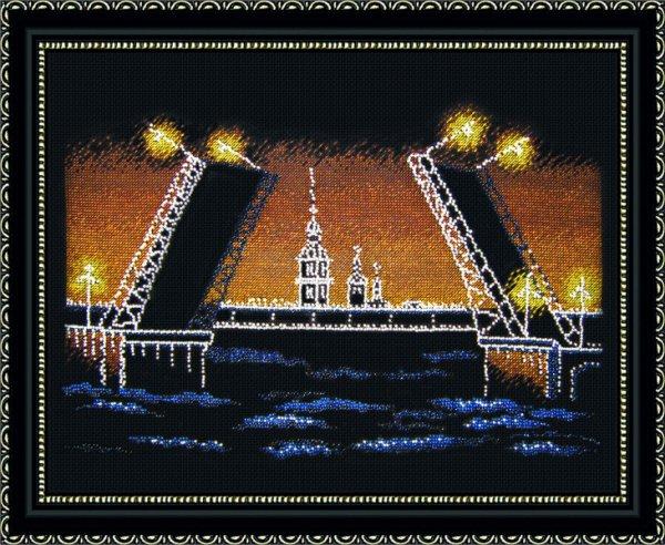 Вышивка мосты санкт-петербурга 2