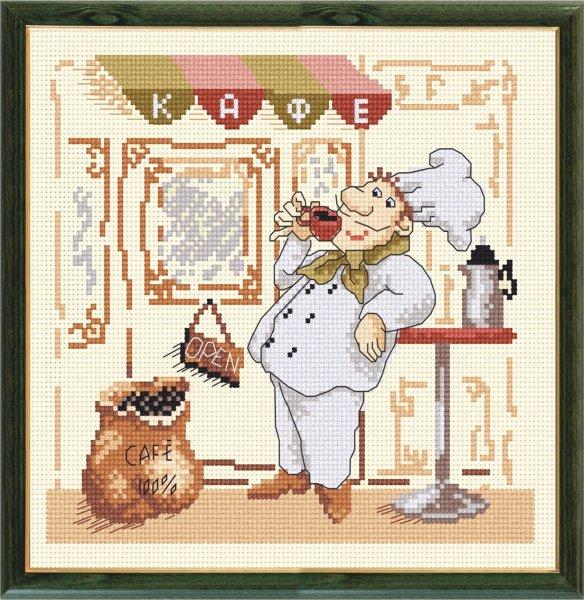 Вышивка веселый повар и