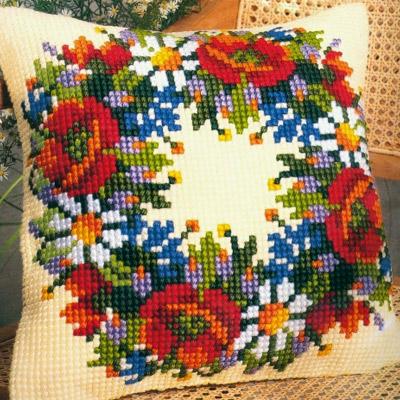 Вышивка крестом на подушками 164