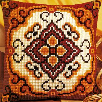 Вышивка крестом подушки vervaco