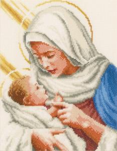 01. Набор для вышивания крестиком VERVACO. Мария и Иисус PN-0148524