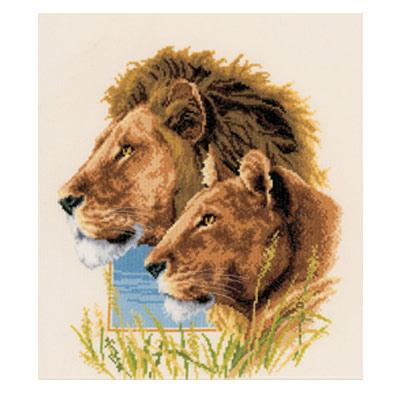 Львы-наборы для вышивки крестом