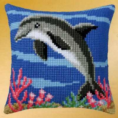 Вышивка дельфины гладью 68