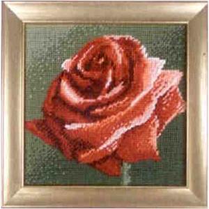 Комплект для вышивания (гобелен) Rico Design Красная роза 22282.54.80