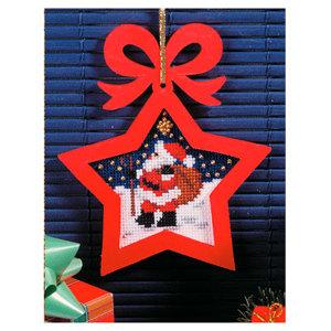 01. Набор для вышивания с фигурной рамкой Рождество. Санта с мешком 6528