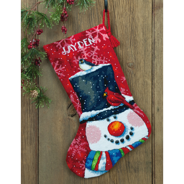 Вышивка крест рождественский сапожок 491