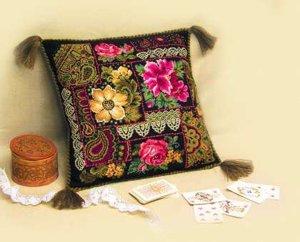 Наборы для вышивки подушки риолис