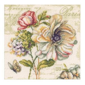 1. Набор для вышивания крестиком Vervaco Вервако Цветочный рынок-2