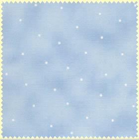 Ткань для пэчворка. Горошек на голубом