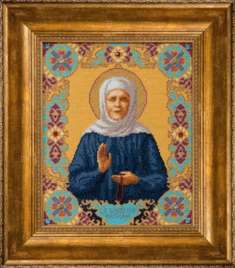 Вышивка крестом иконы матрона московская 78