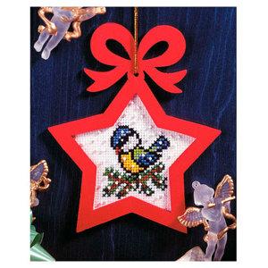 01. Набор для вышивания с фигурной рамкой Рождество. Синичка 6536