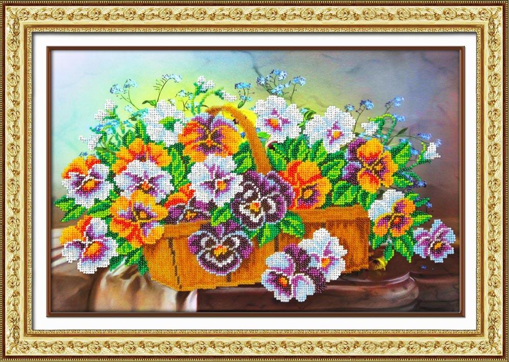 Паутинка вышивка бисером цветы 74