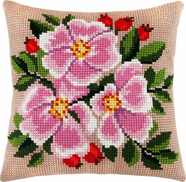 Вышивка крестом наволочки для подушки 198
