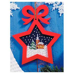 01. Набор для вышивания с фигурной рамкой Рождество. 6529