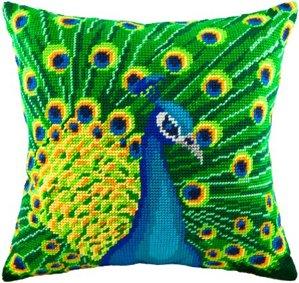 Набор для вышивания подушки Чарiвниця Павлин V60