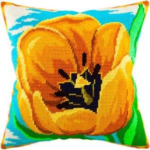 Набор для вышивания подушки Чарiвниця Желтый тюльпан V61