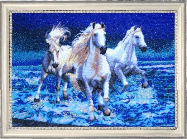 Вышивка крестом тройка лошадей набор