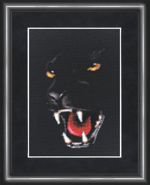 Вышивка черная пантера 83