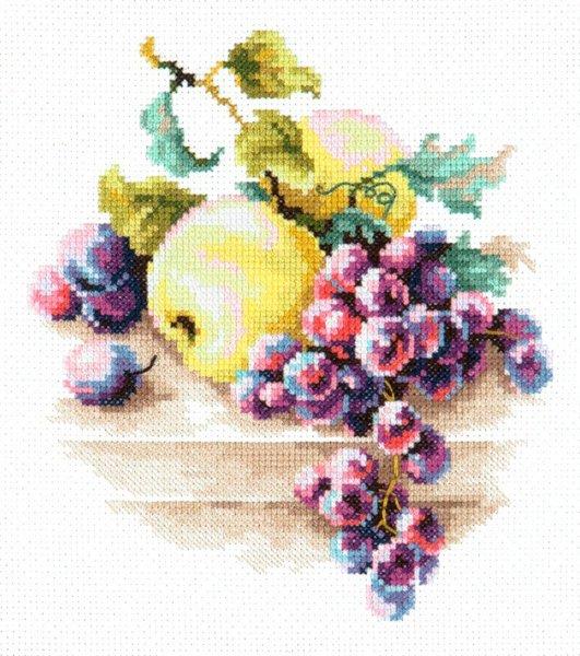 Набор для вышивки крестом виноград 124